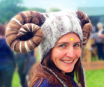 Ram Horned Fancy Dress Hat