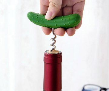 Cucumber Wine Bottle Opener Corkscrew