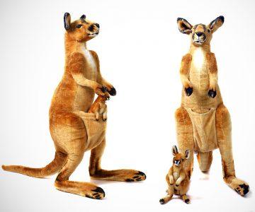 3 Foot Giant Kari the Kangaroo and Joey Animal Stuffed Plush
