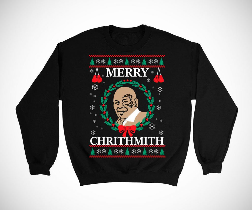 Mike Tyson Merry Christmas Chrithmith Sweater Cool Sht I Buy