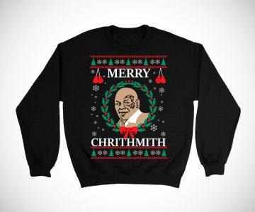 Mike Tyson Merry Christmas ChrithMith Sweater