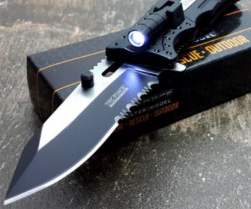 Tac-force Fire Fighter Led Light Rescue Pocket Knife