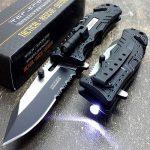 Tac-force Fire Fighter Led Light Rescue Pocket Knife