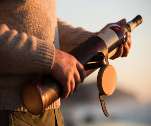 The Whiskey Case: Leather & Wood Bottle Holder