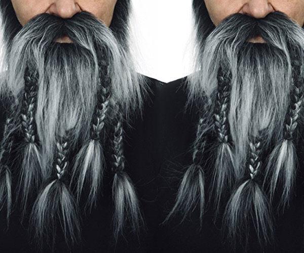 Viking Salt and Pepper Beard & Moustache