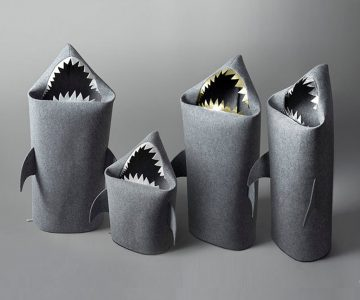 Baby Shark Felt Storage Basket