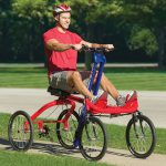 Four Wheeled Rowing Cycle
