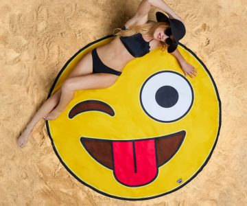 Giant Emoji Beach Blanket