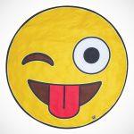 Giant Emoji Beach Blanket