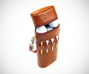 Leather Golf Ball & Accessory Carrier