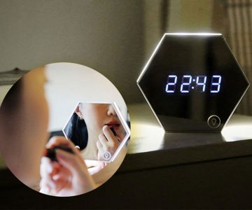 Multifunction Mirror Alarm Clock