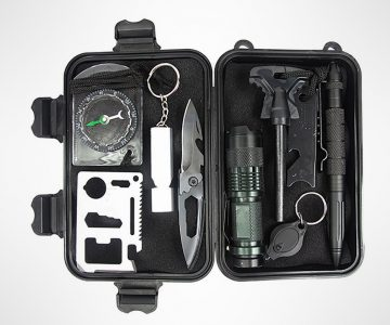 10 in 1 Emergency Survival Gear Outdoor Kit