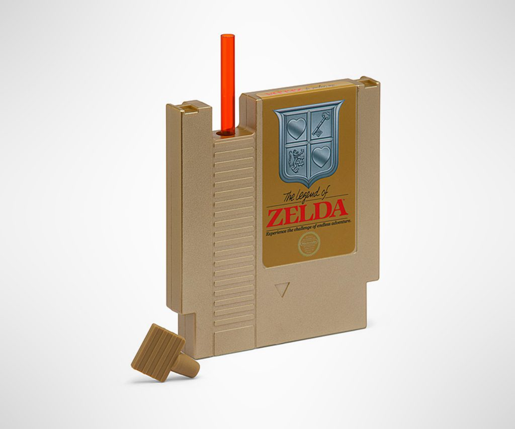 Gold Legend of Zelda Hydration Cartridge with Straw