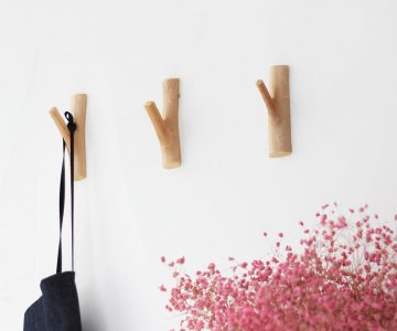 Adhesive Wood Branch Hooks