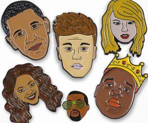 Celebrity Character Enamel Lapel Pins