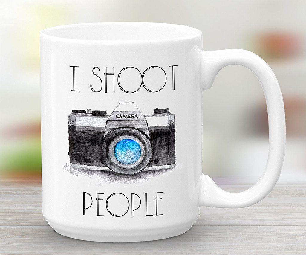 I Shoot People Camera Coffee Mug