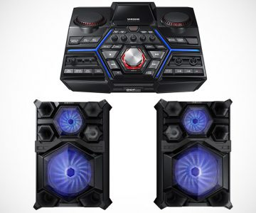 "Samsung Giga Sound System with 18"" Woofer and Beat Lighting Effects"