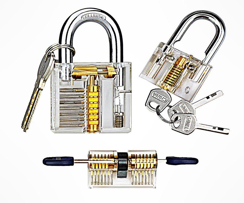 Transparent Lock Picking Practice Set