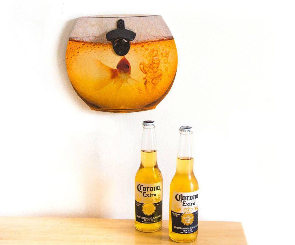 Wall Mounted Goldfish Bottle Opener