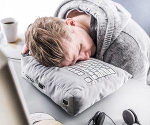 Computer Keyboard Geek Nap Plush Pillow