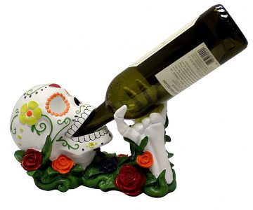 Dead Sugar Skull Wine Holder