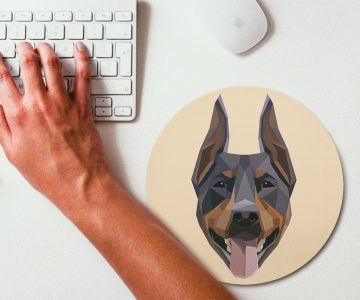 A Mouse pad for the Doberman in your house!
