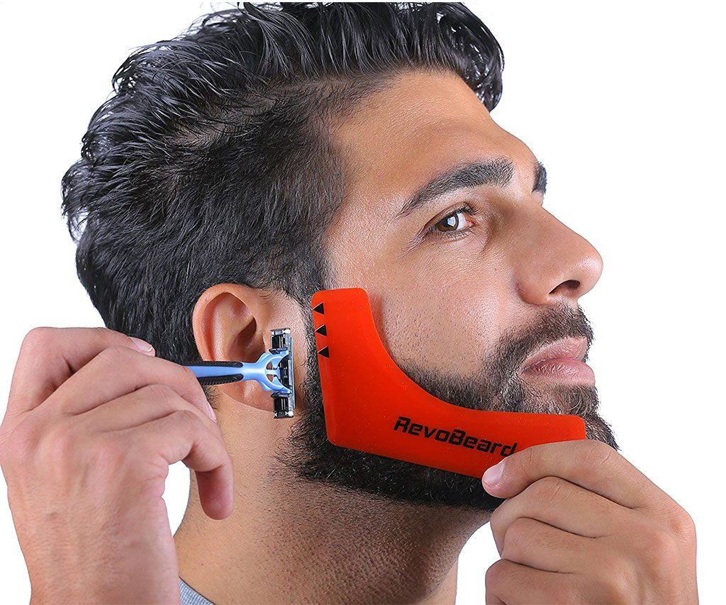 Mens Beard Styling Template
