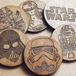 Wooden Star Wars Coasters