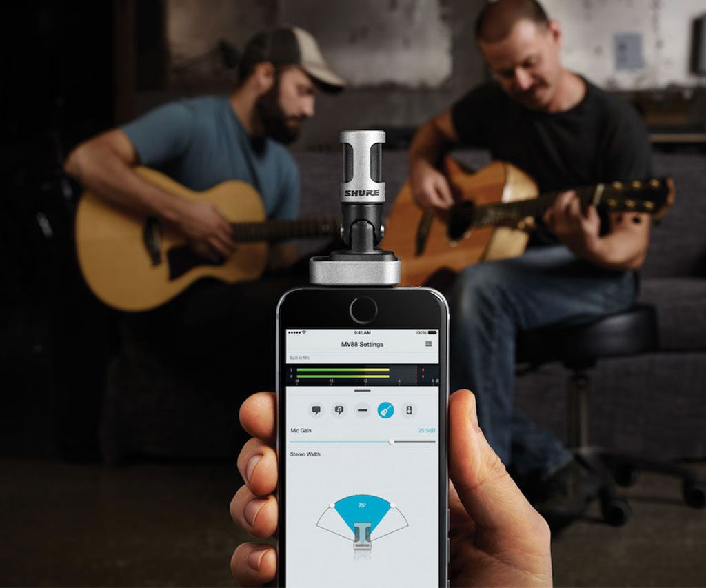 iOS Digital Stereo Condenser Microphone by Shure