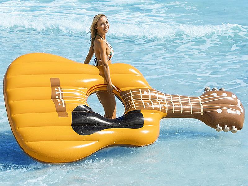 Acoustic Guitar Pool Float