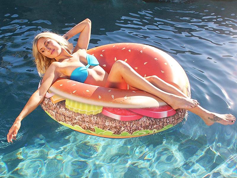Cheeseburger Pool Tube