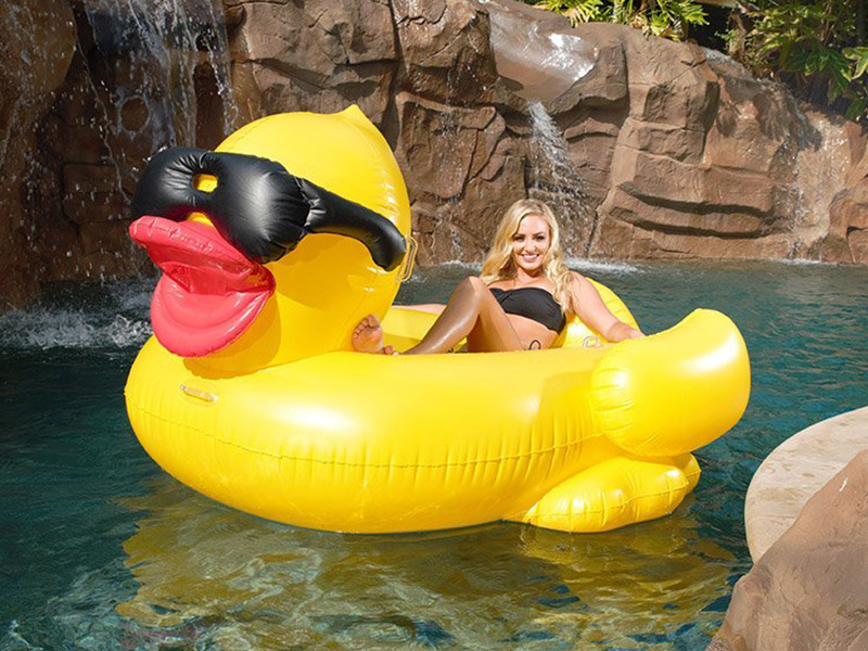 Derby Duck Inflatable Swimming Pool Float