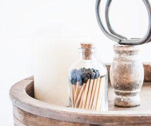 Fancy Matchstick Jar