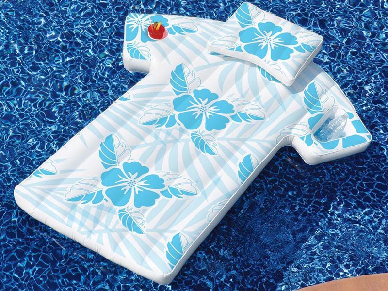 Hawaiian Shirt Pool Float Lounger