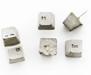 Concrete Keyboard Key Push Pins