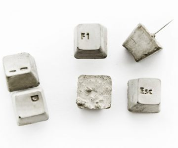 Concrete Keyboard Key Push Pins