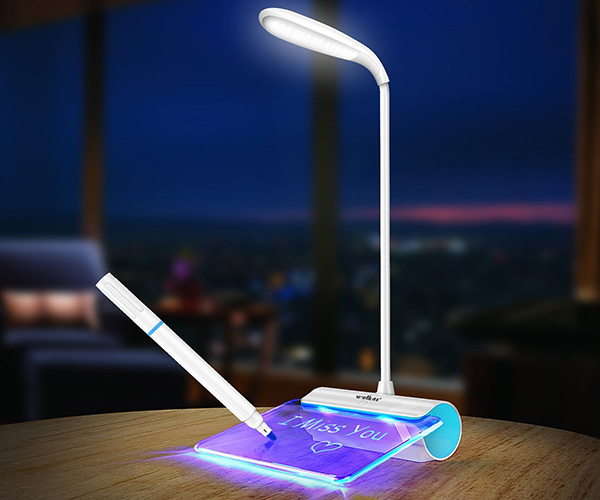 Desk Lamp with Message Board