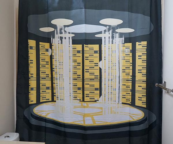Star Trek TNG Transporter Shower Curtain