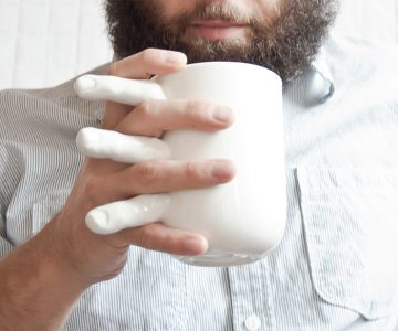Tea Mug with Fingers