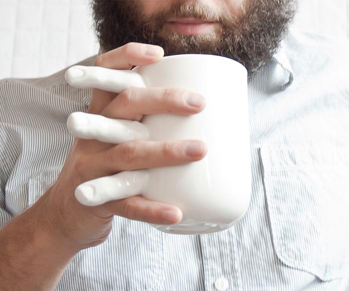 Tea Mug with Fingers