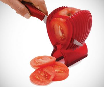 Amazingly Accurate Tomato Slicer