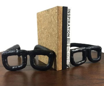 Cast Iron Spectacle Bookends