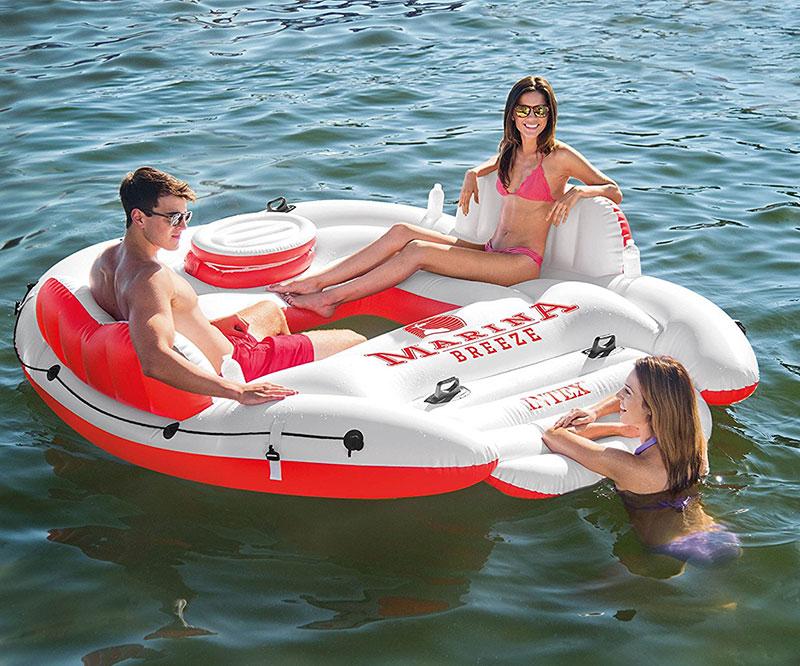 Marina Breeze Island Float Raft