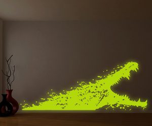 Glowing Alligator Wall Decal