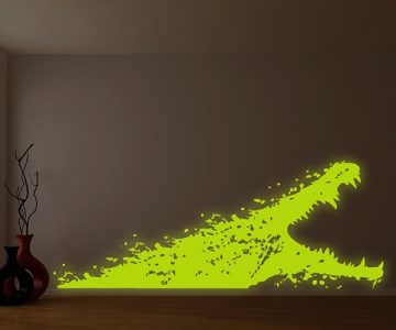 Glowing Alligator Wall Decal