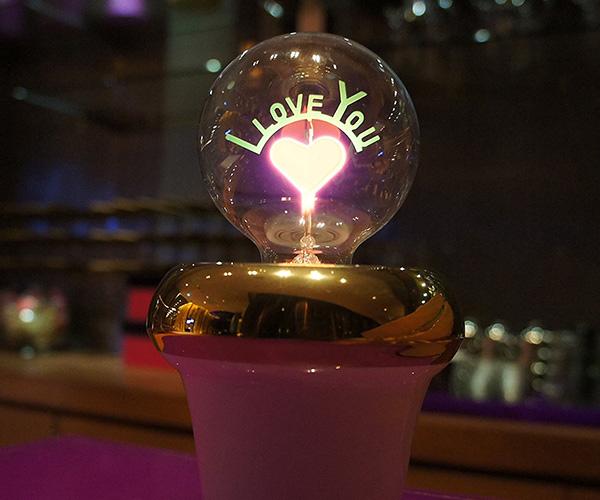 I Love You Light Bulb