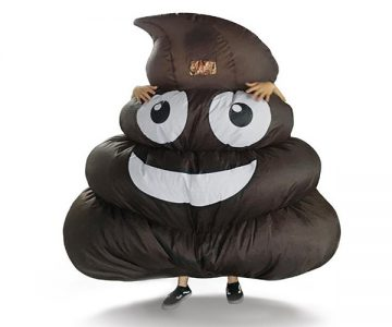 Inflatable Giant Poop Emoji Costume
