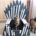 Cat sitting on the Iron Throne