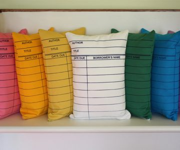 Library Card Pillows