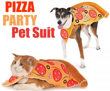 Pizza Party Pizza Slice Pet Suit Dogs & Cats